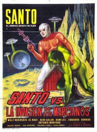 Santo el Enmascarado de Plata vs 'La invasión de los marcianos' (1967)