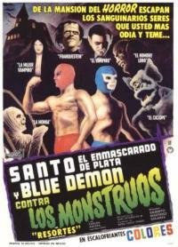 Santo el enmascarado de plata y Blue Demon contra los monstruos (1970)